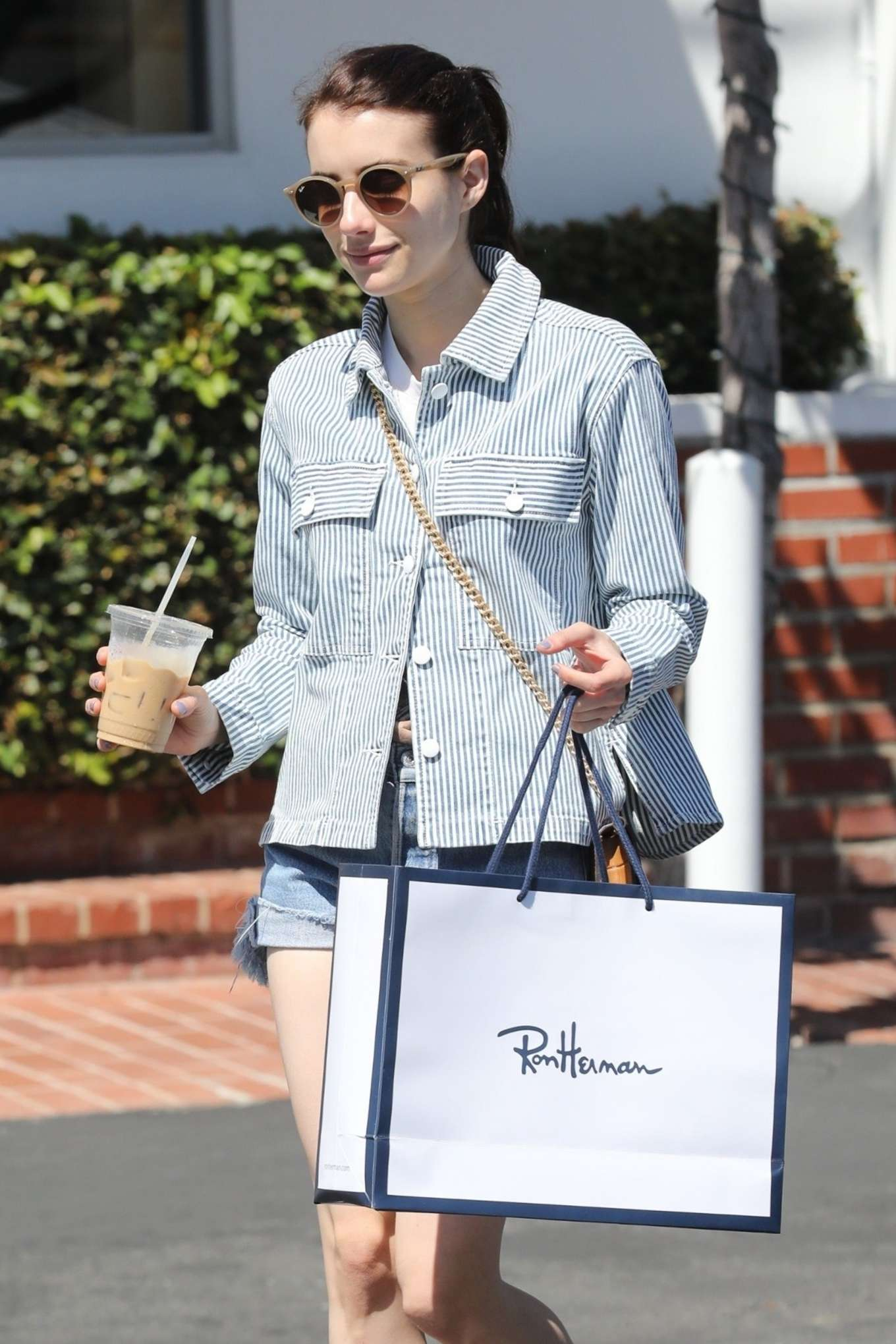 Emma Roberts - Shopping at Fred Segal in West Holywood