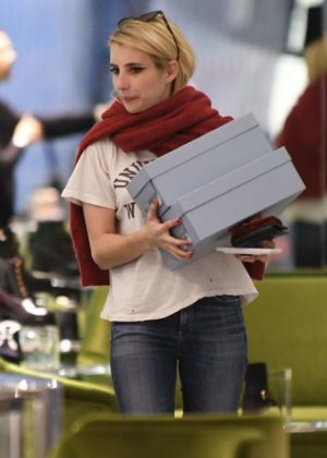 Emma Roberts - Shopping at Prada in Beverly Hills