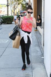 Emma Roberts - shopping candids at James Perse in Beverly Hills