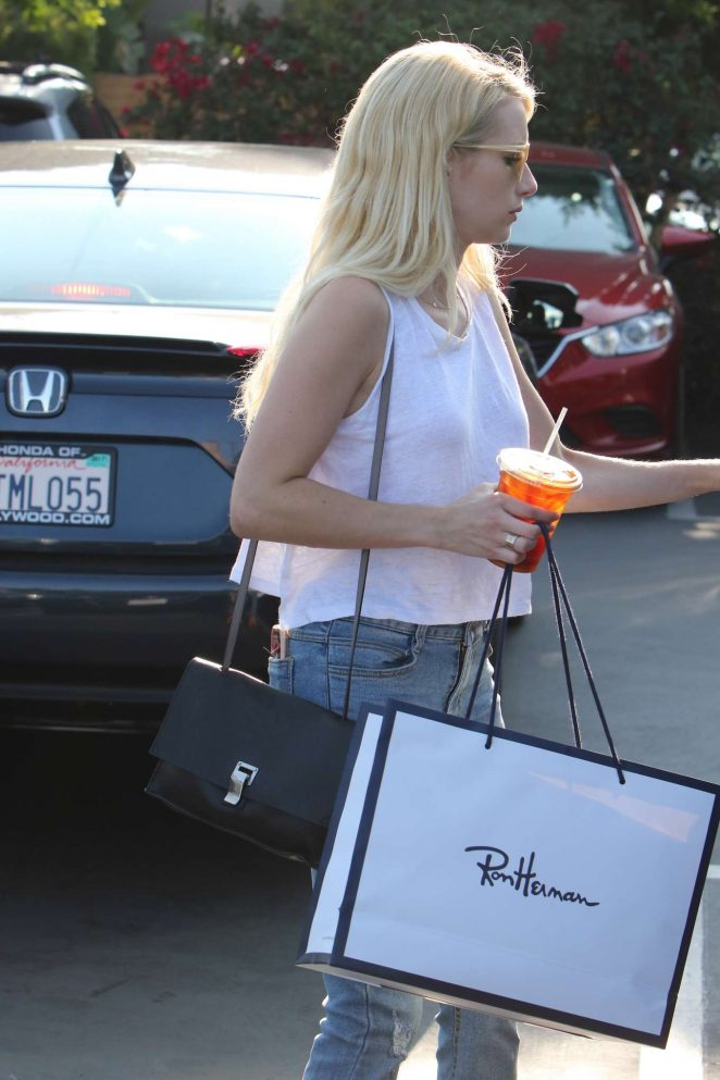 Emma Roberts: Shopping Candids in West Hollywood-05