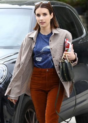 Emma Roberts - Shopping in Los Angeles
