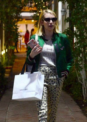 Emma Roberts - Shopping on Melrose Place in Los Angeles