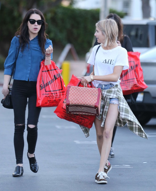 Emma Roberts - Shopping with a friend in West Hollywood