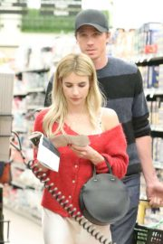 Emma Roberts - Shopping with her boyfriend in Santa Monica