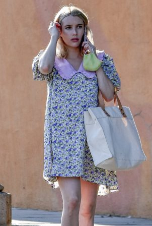 Emma Roberts - Spotted leaving a friend's house in Los Angeles