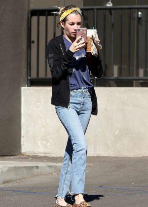 Emma Roberts Stops By Starbucks In Los Feliz 05 Gotceleb