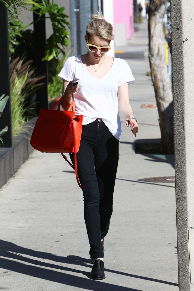 Emma Roberts in Tight Jeans out in LA