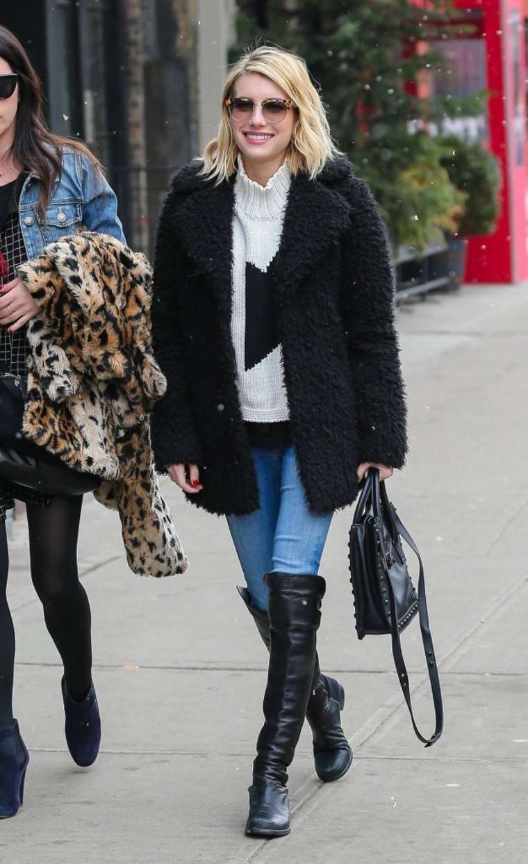 Emma Roberts in Jeans - out in NYC
