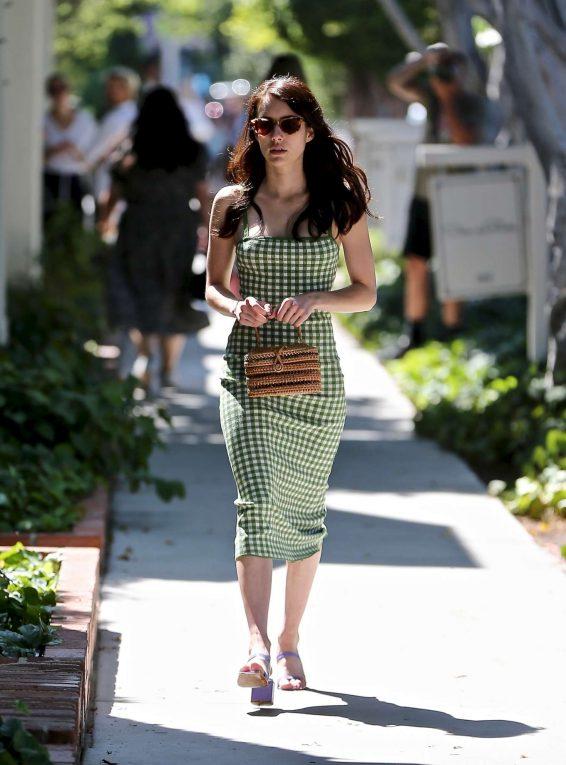 Emma Roberts 2019 : Emma Roberts – visits Kate Somerville on Melrose Place-02