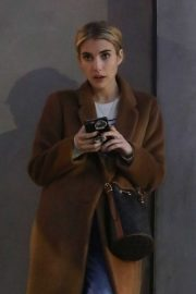 Emma Roberts - Waiting for her car in Los Angeles