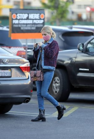 Emma Roberts - Wearing denim and looks stylish while out in Los Angeles