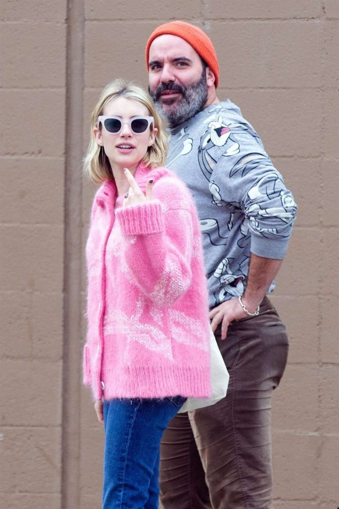 Emma Roberts with a friend out in Los Feliz