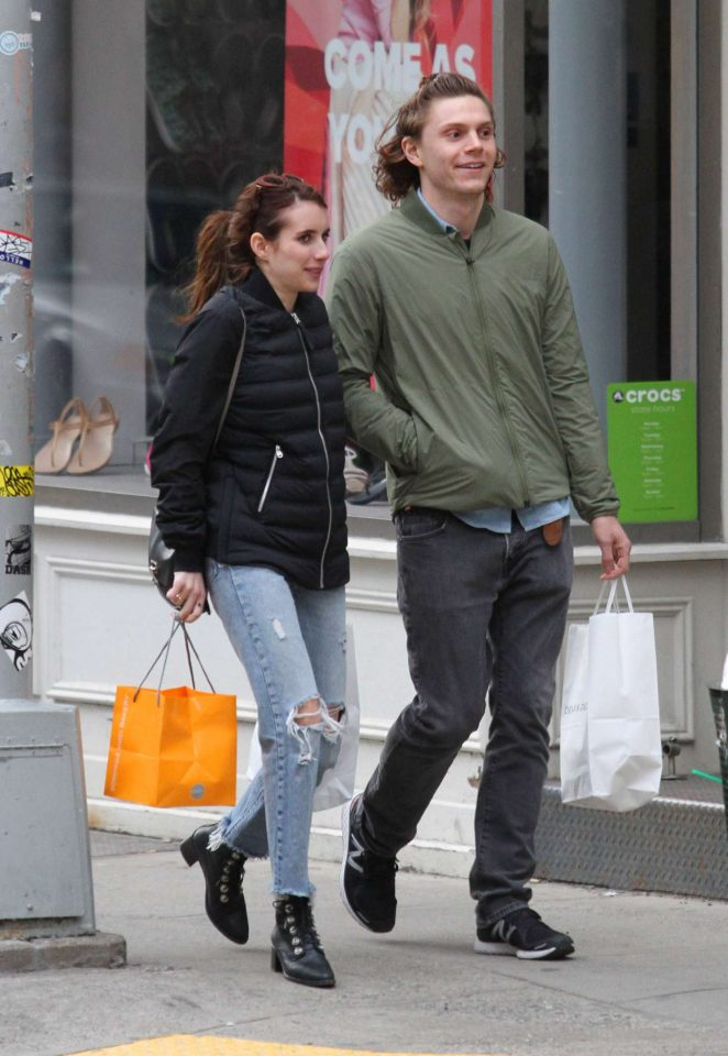 Emma Roberts with boyfriend in NYC