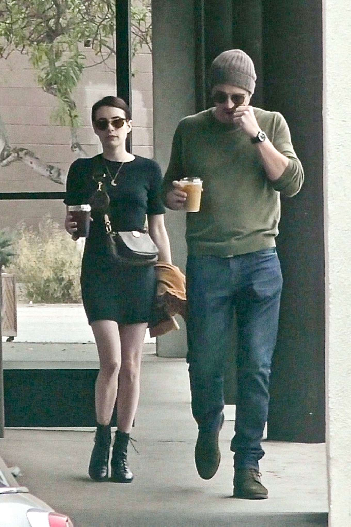 Emma Roberts with her boyfriend out for lunch in Los Angeles