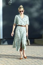 Emma Roberts with her boyfriend visit to Shape House in Los Angeles