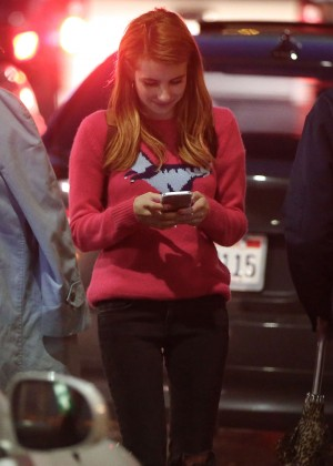 Emma Roberts with some friends out in Los Angeles