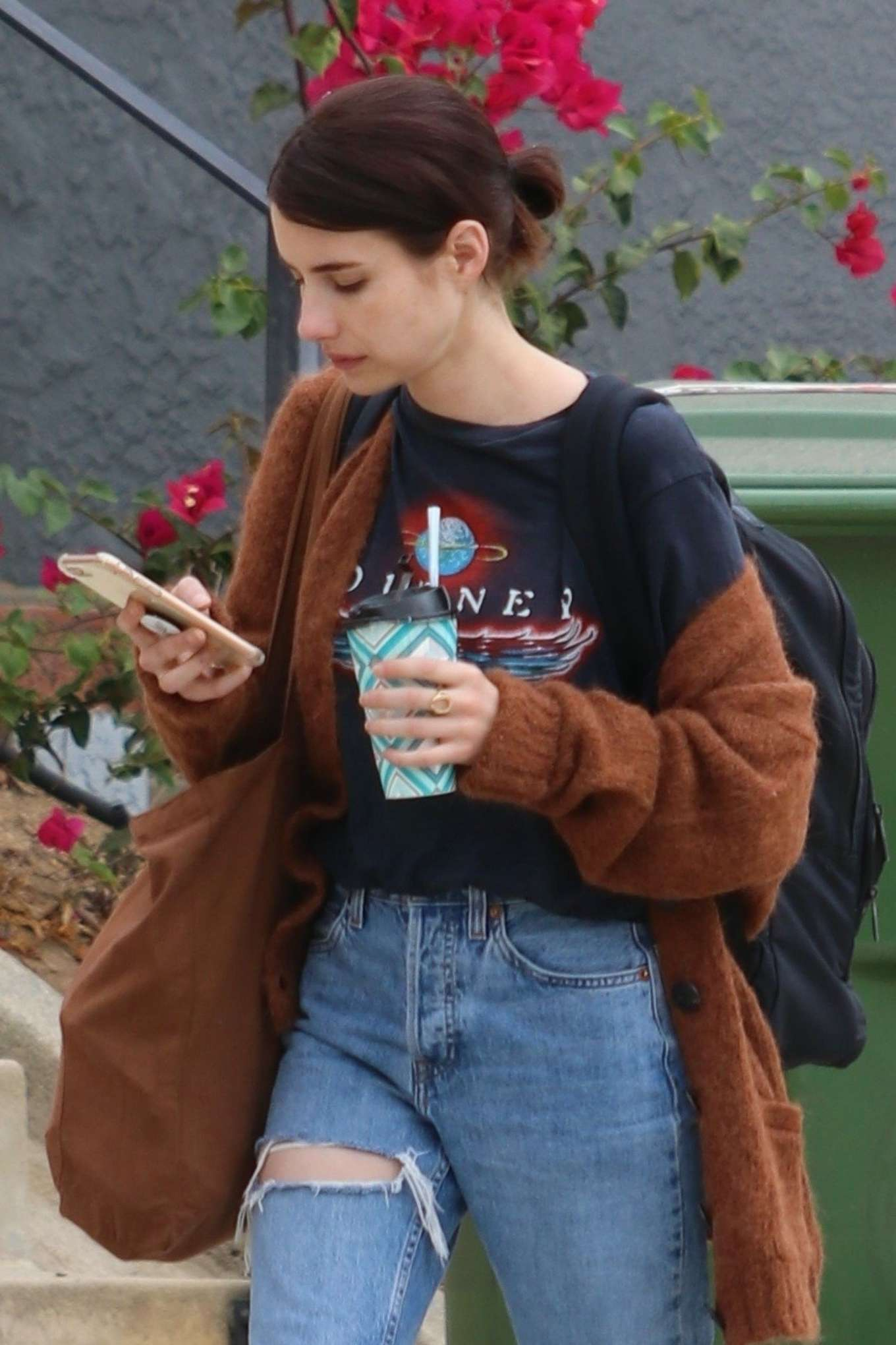 Emma Roberts - Without Makeup out in LA