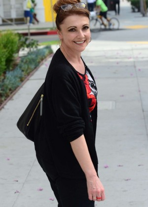 Emma Samms out and about in Beverly Hills
