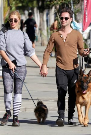 Emma Slater - Takes her dogs out in West Hollywood