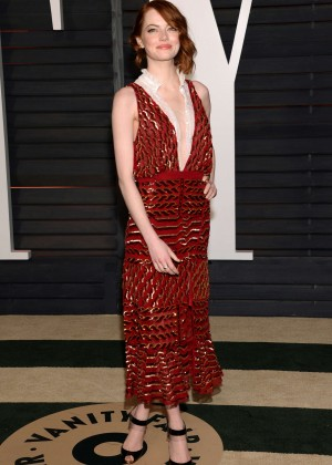 Emma Stone - 2015 Vanity Fair Oscar Party in Hollywood