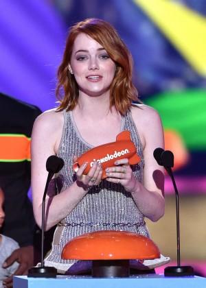 Emma Stone: 2015 Nickelodeon Kids Choice Awards -02
