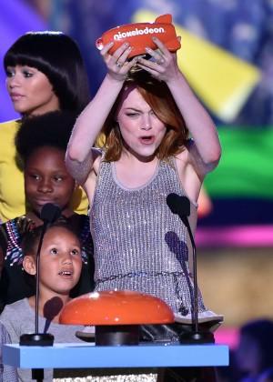 Emma Stone: 2015 Nickelodeon Kids Choice Awards -03