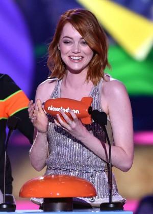 Emma Stone: 2015 Nickelodeon Kids Choice Awards -09