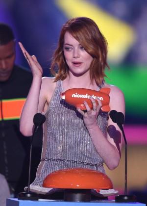 Emma Stone: 2015 Nickelodeon Kids Choice Awards -12