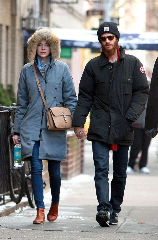 Emma Stone and Andrew Garfield - Out and about in NYC