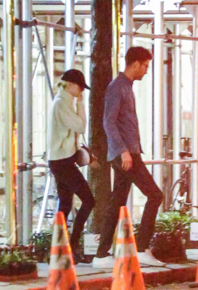 Emma Stone and Dave McCary out to celebrate her 29th birthday in NYC