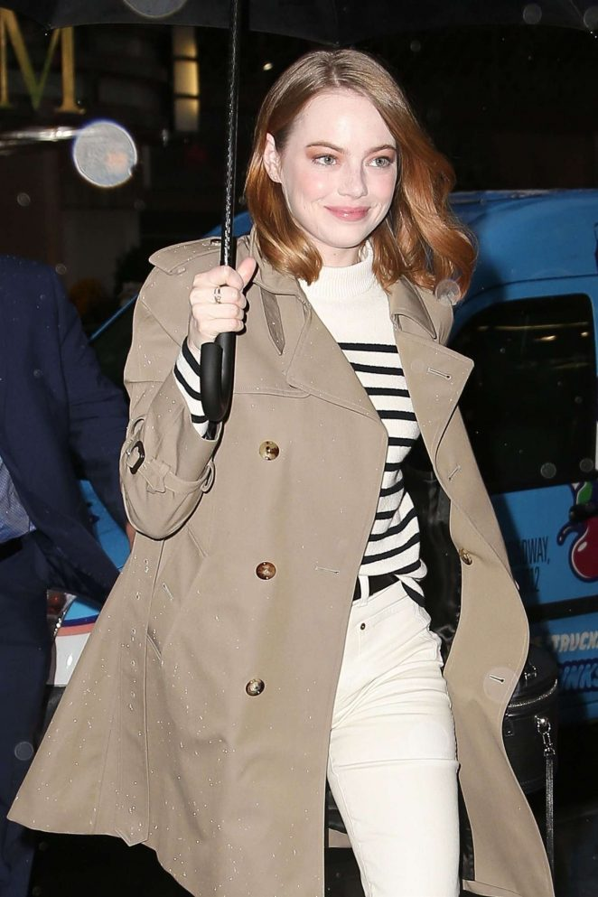 Emma Stone - Arrives at the Robin Williams Center in NYC