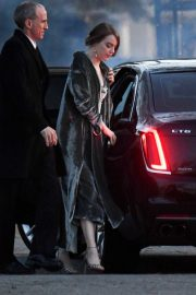 Emma Stone - Arrives to Jennifer Lawrence and Cooke Maroney's wedding in Newport