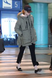 Emma Stone - Arriving at Athens International Airport in Athens