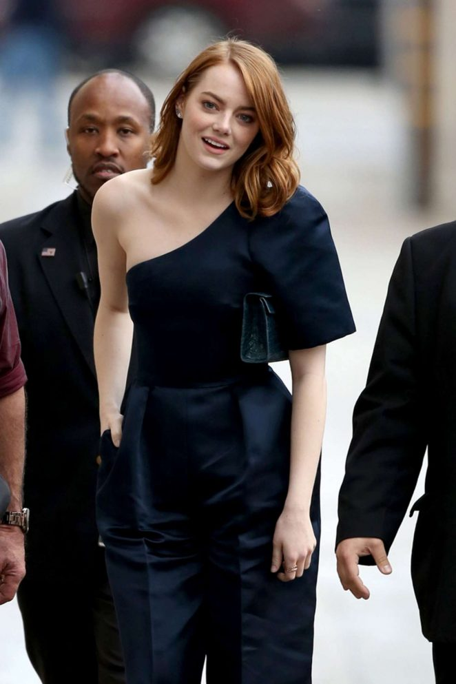 Emma Stone - Arriving at Jimmy Kimmel Live! in LA