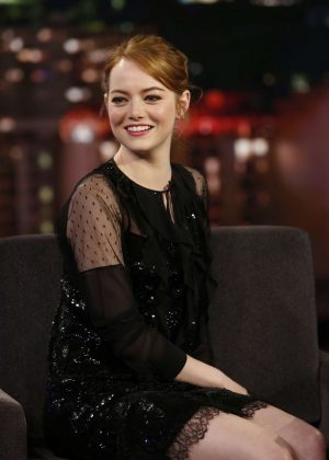 Emma Stone at Jimmy Kimmel Live! in Los Angeles