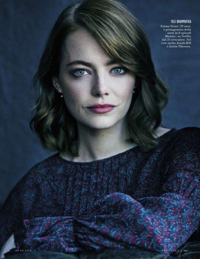 Emma Stone for Vanity Fair Italy Magazine (September 2018)