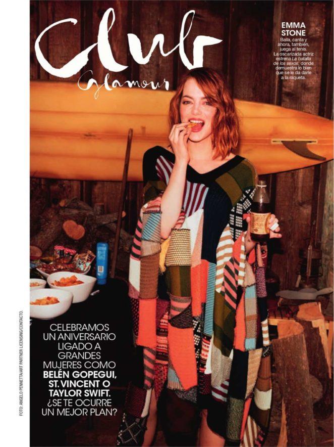 Emma Stone - Glamour Spain Magazine (November 2017)