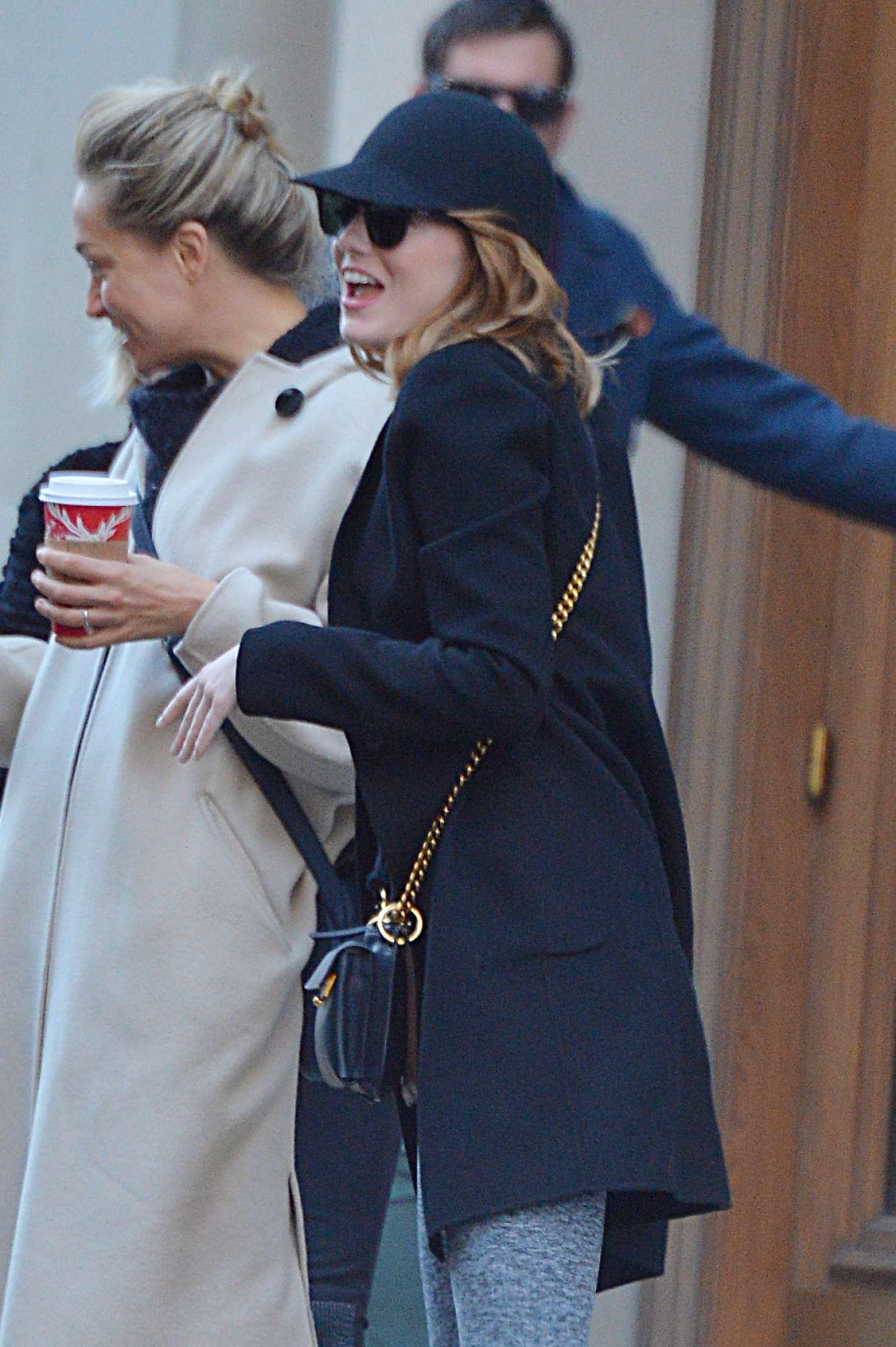 Emma Stone - Heads to the gym in Manhattan