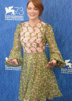 Emma Stone - 'La La Land' Photocall at 73rd Venice Film Festival in Italy