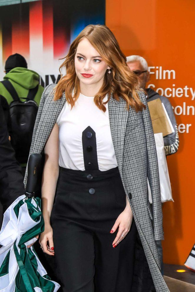 Emma Stone - Leaving a restaurant in New York City