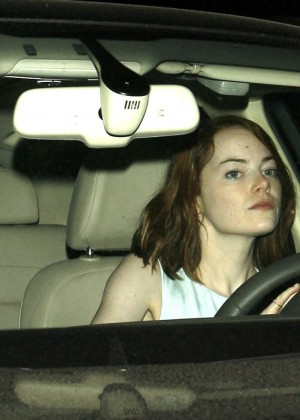 Emma Stone - Leaving Cicconi's Restaurant in West Hollywood