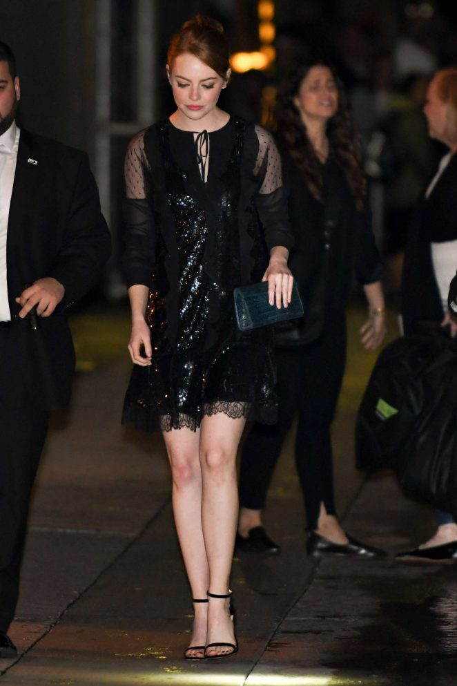 Emma Stone - Leaving Jimmy Kimmel Live in Los Angeles