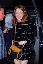 Emma Stone - Leaving SNL after party in NYC