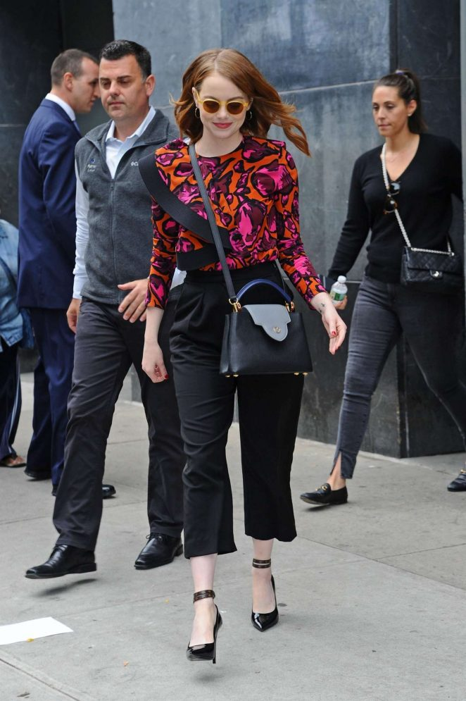 Emma Stone - Leaving the 'Great Minds Think Unalike' Event in NYC