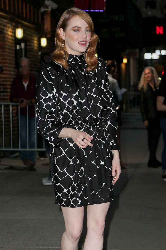 Emma Stone - Leaving 'The Late Show With Stephen Colbert' in NYC