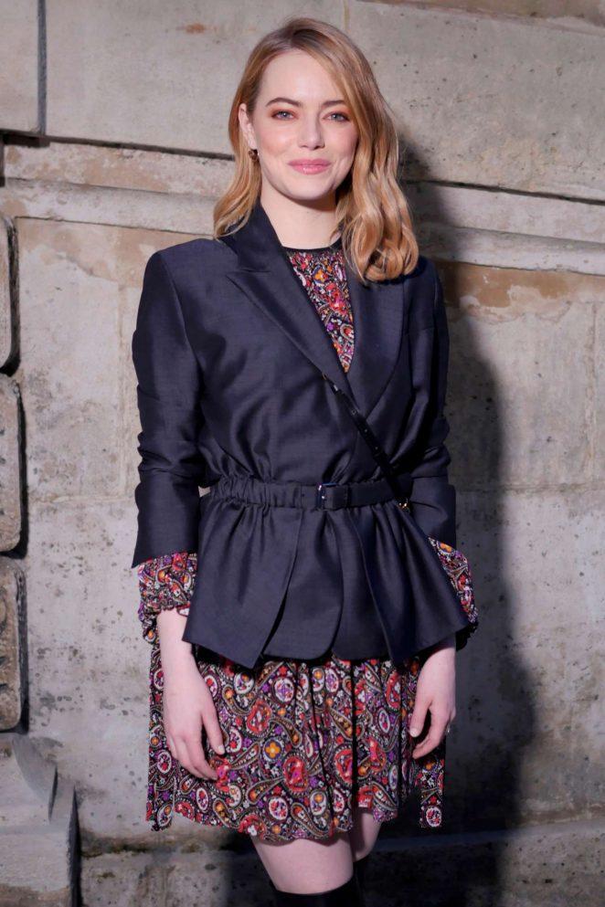 Emma Stone - Louis Vuitton Fashion Show 2018 in Paris
