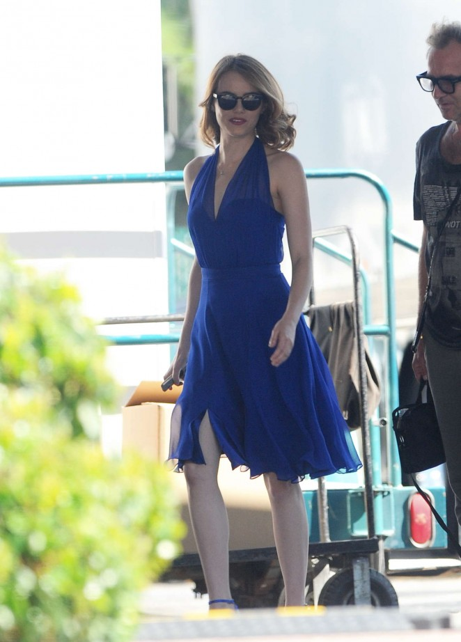 Emma Stone on the Set of 'La La Land' in Los Angeles