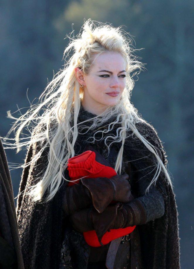 Emma Stone - On the set of 'Maniac' in Kerhonkson
