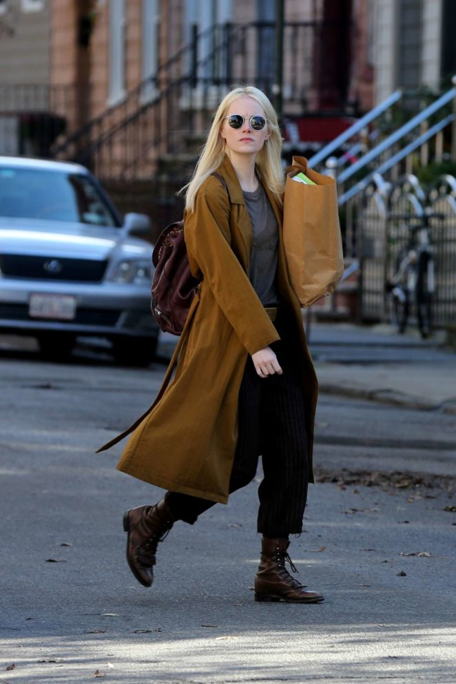 Emma Stone on the set of 'Maniac' in New York