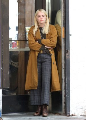 Emma Stone out for lunch in New York City